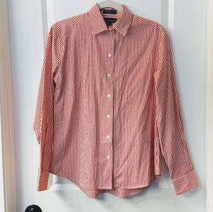 Women's Faconnable Red & White Stripe Shirt Size M